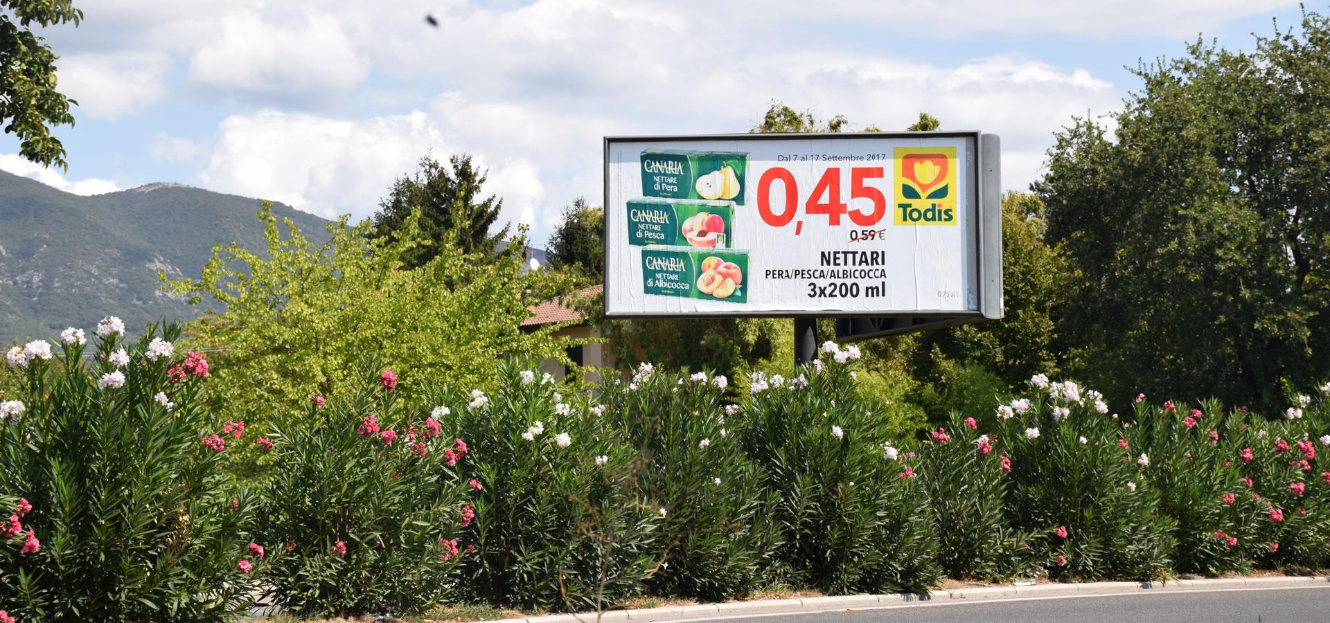 cartelloni pubblicitari a Terni