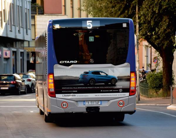 Affissioni pubblicitarie bus Terni valore media